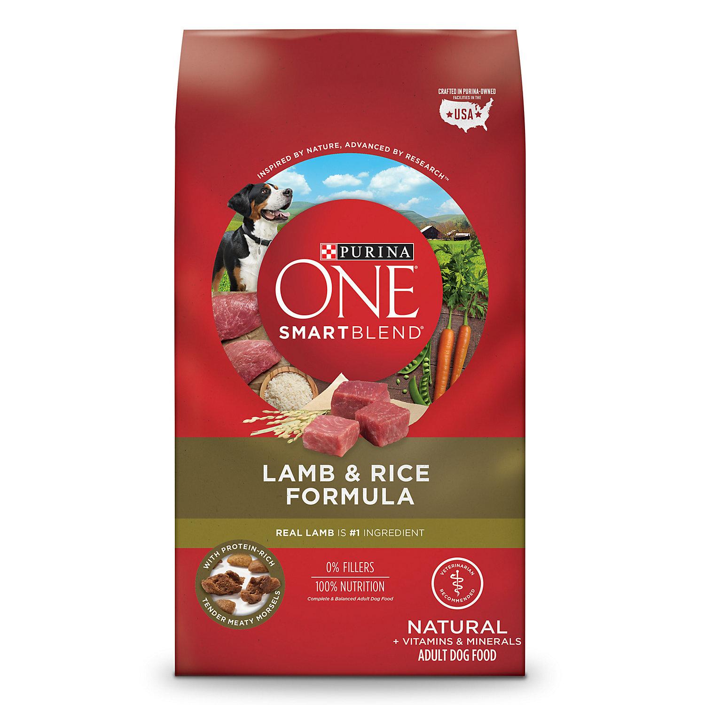 Purina One Natural Smartblend Lamb Rice Formula Dry Dog Food