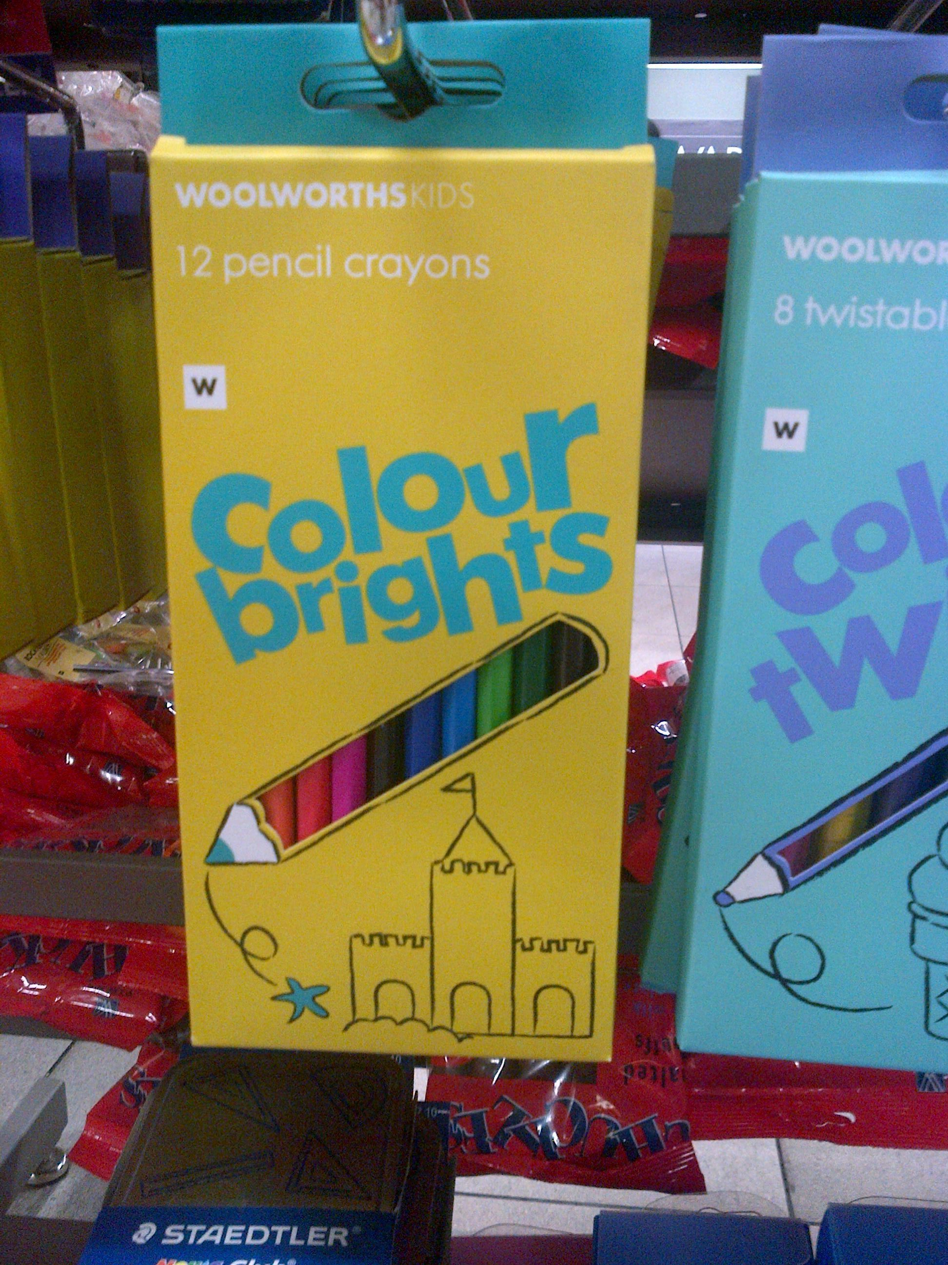 Packaging cut-outs to display the product and enhance the visual branding - WOOLWORTHS