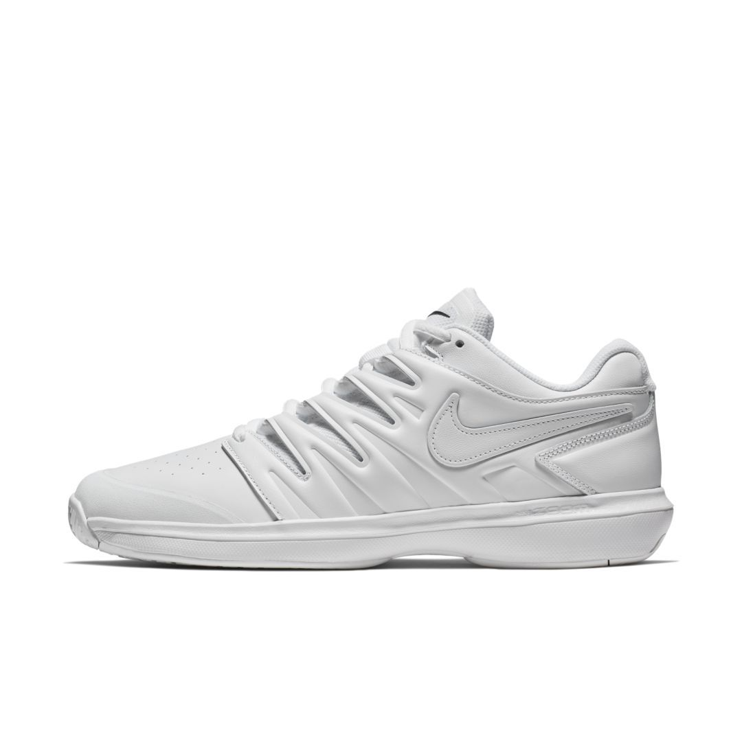 Nikecourt Air Zoom Prestige Leather Men S Hard Court Tennis Shoe Size 10 White Mens Tennis Shoes Leather Men Nike Air Zoom