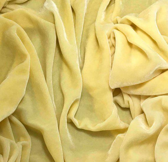 Hand Dyed IVORY Silk VELVET Fabric
