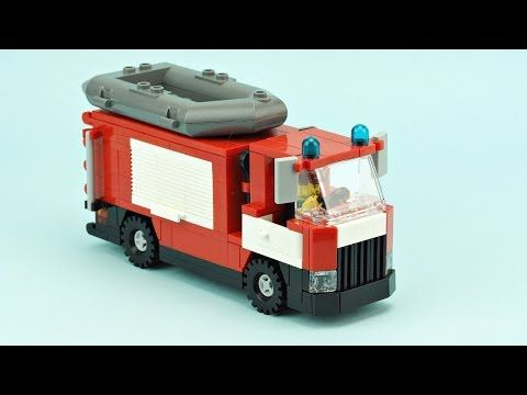 Lego Fire Truck Moc Building Instructions Youtube Lego Fire