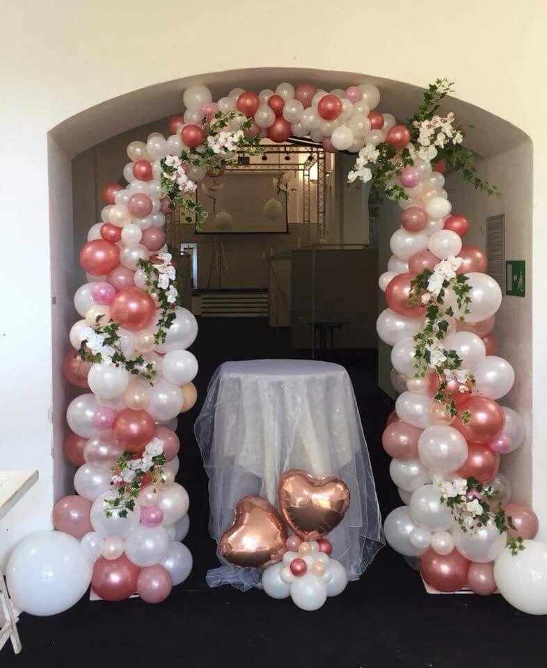 Pin de mjose granados cba en globos organicos en 2019 globos paredes de globos y globos para Ideas para decorar un arco de boda
