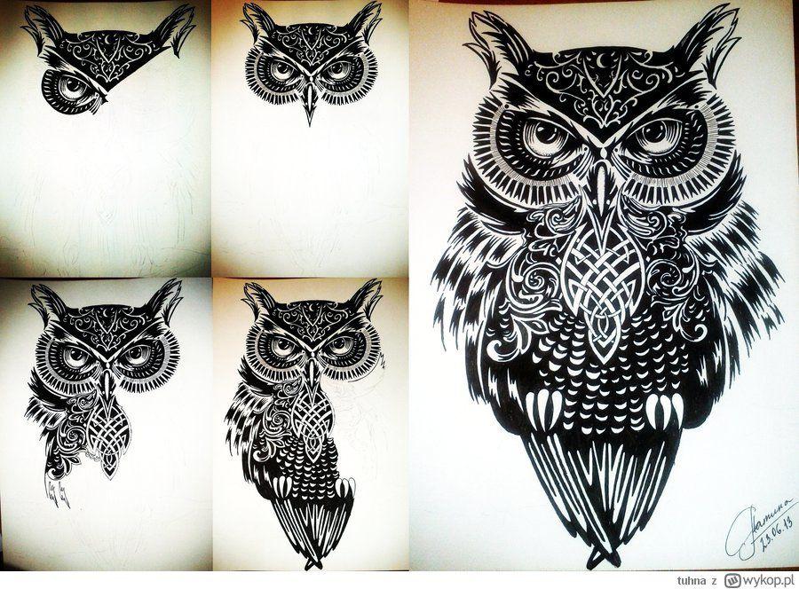 Tatuaż Fantastyczna Sowa Szukaj W Google Tatuaż Tatuaż