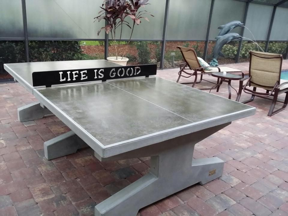 Life Is Good Backyard Table Tennis Ping Pong Next To The
