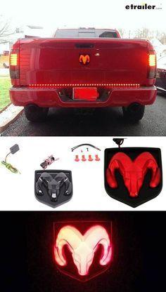 Ram Led Lighted Vehicle Emblem Black Reese Novelty