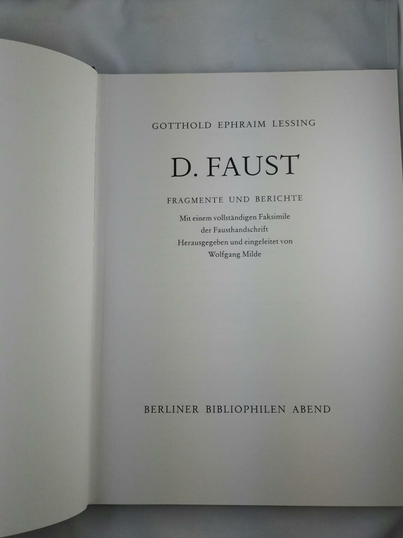 Lessing laat niet toe dat zijn Faust verdoemd wordt, hij