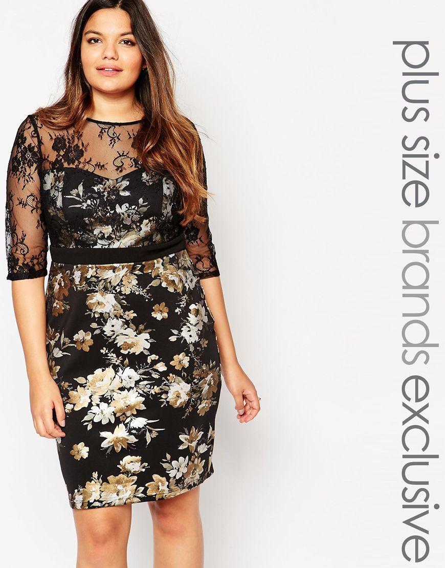 Plus size black metallic dress