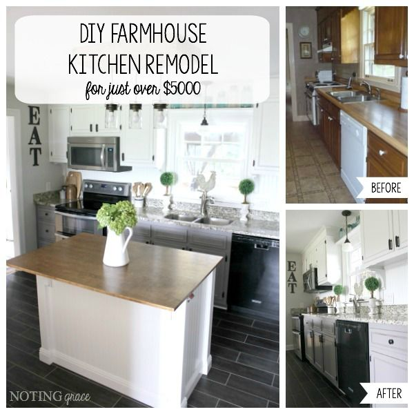 DIY Farmhouse Kitchen Remodel For Just Over $5000: See How To Save Money On  Your