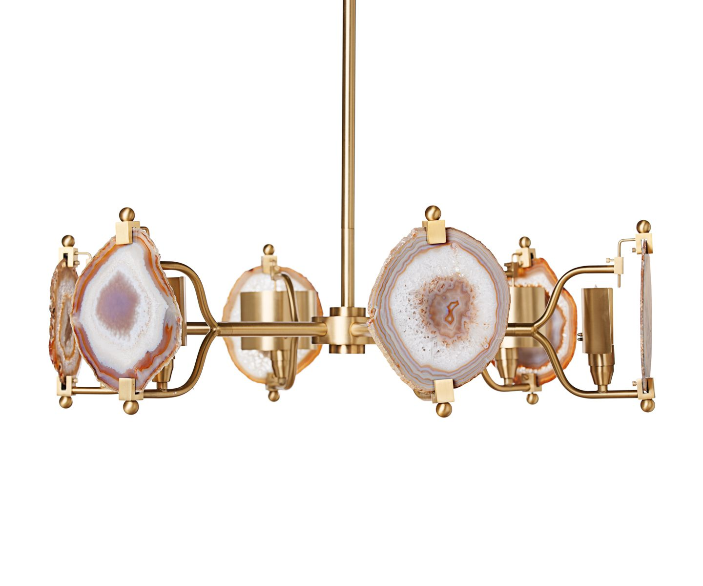 Emporium home by ashley childers ball agate chandelier brass 9 ball agate chandelier nickel emporium home arubaitofo Images