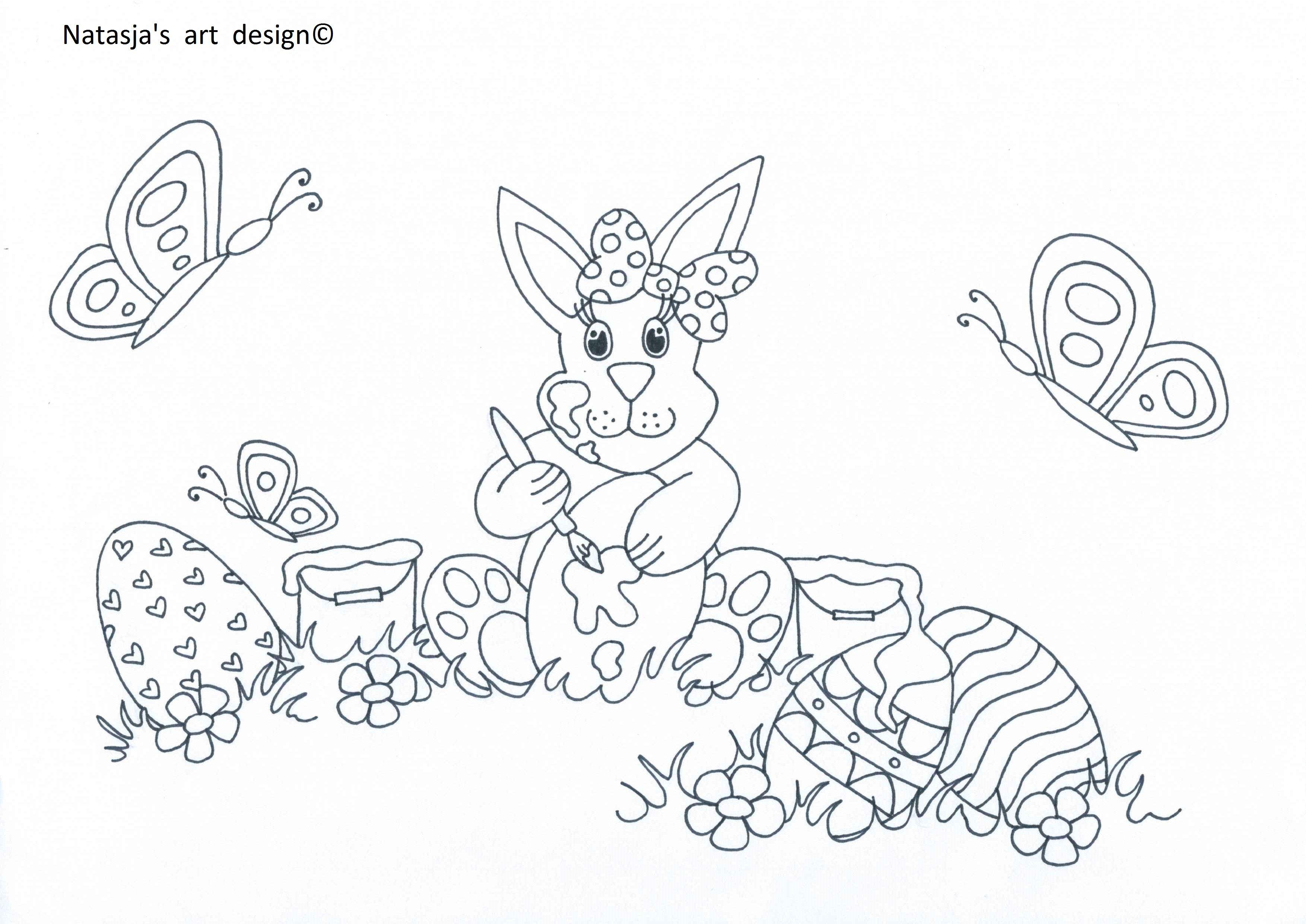 Paaskleurplaat Tekenen Kinderen