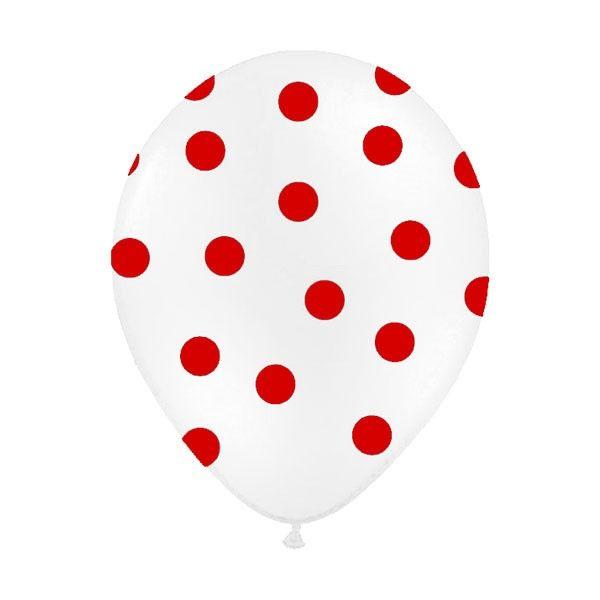 Ces 6 ballons de baudruche à pois qualité Hélium apporteront du volume à vos décoration de salle. Vous pourrez les accrocher ou les remplir d'Hélium.