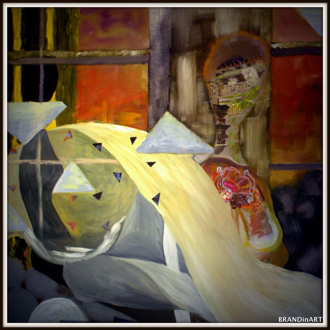 Transcendental Woman- in progress 85%complete. A canvas painting by Brandin Henderson. Www.BrandinArt.coM