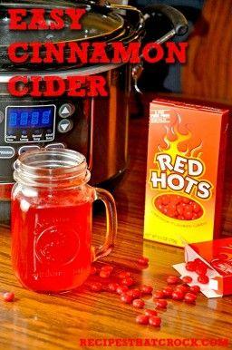 Easy Cinnamon Cider - Recipes That Crock! So easy and so tasty! #Crockpot