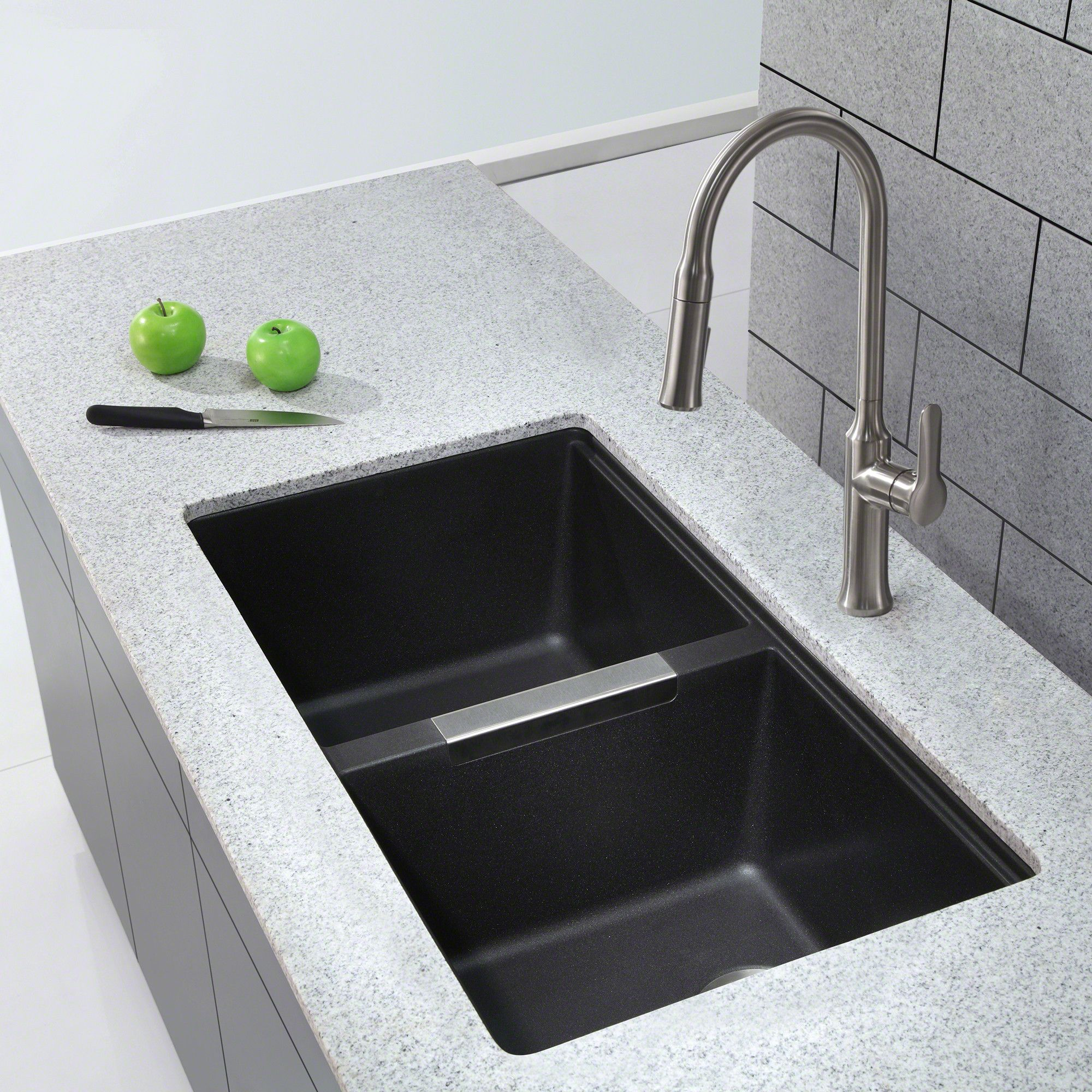 bowl in granite ikon blanco composite of sink white kitchen single undermount picture