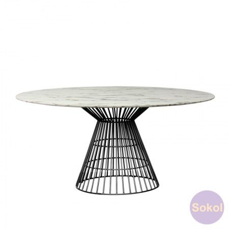 New Arrivals Pearl Marble Dining Table 140cm Dining Table