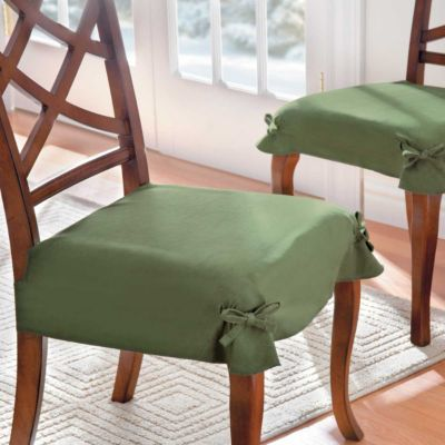 Cotton Or Microsuede Seat Covers In A Solid Color No Print Or Design For 6 Chairs In A Neutr Dining Chair Covers Slipcovers For Chairs Seat Covers For Chairs