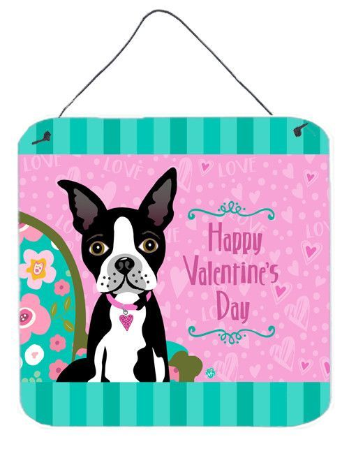 Happy Valentineu0027s Day Boston Terrier Graphic Art