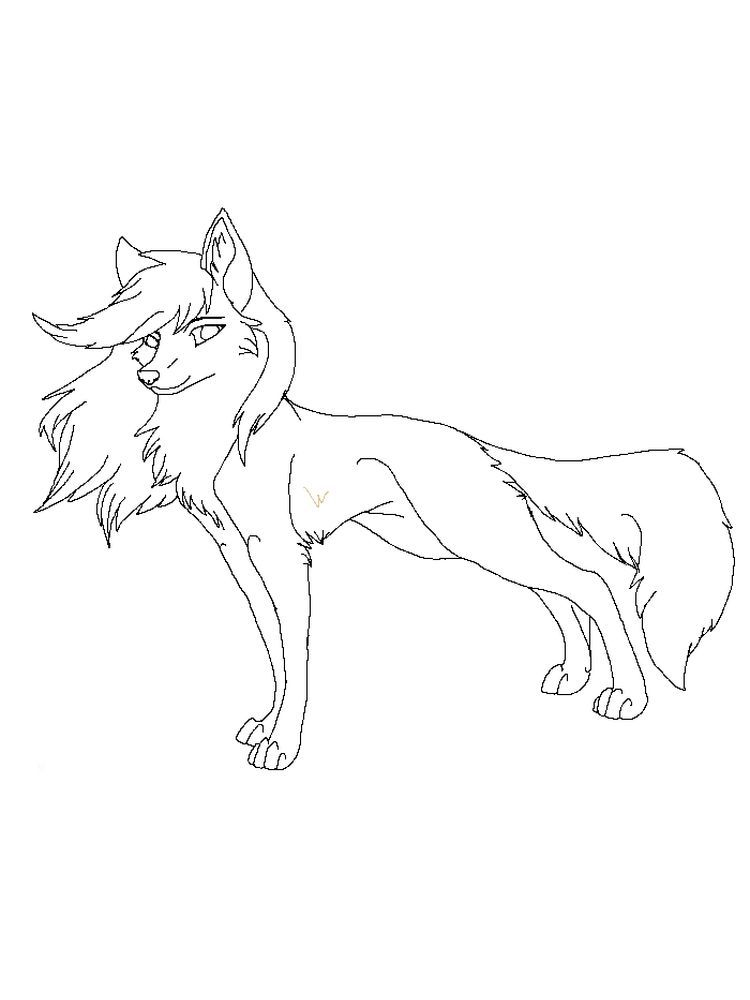 Winged Wolves Animal Coloring Pages Wolf Colors Coloring Pages