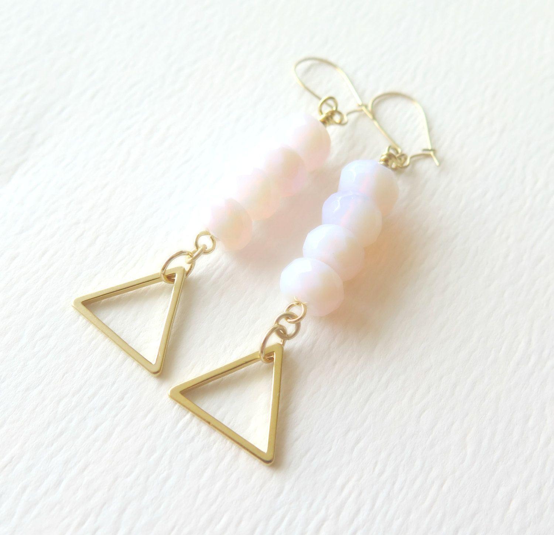 Pink Peruvian Opal Earrings $21.50 #jewelry #earrings #pink