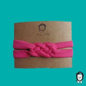 faixa turbante trançado pink