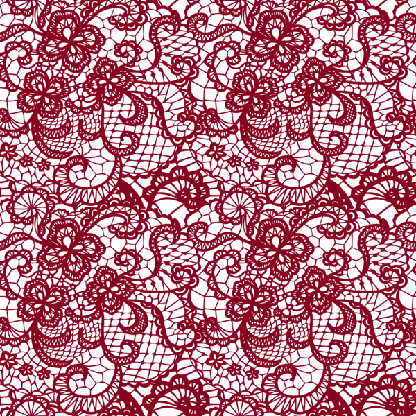 Transparent Lace With Flowers Decoration PNG Picture PatternsDesign