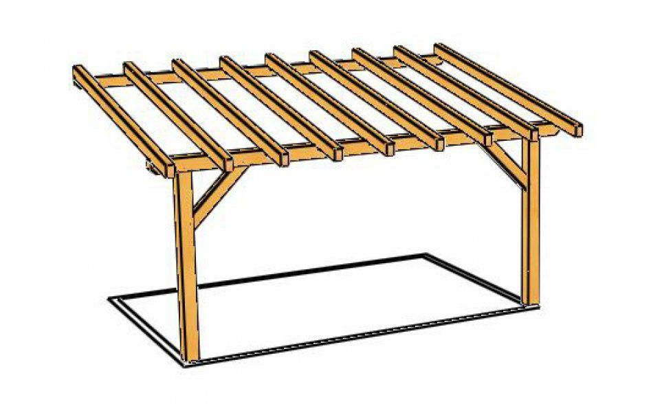 construire une pergola en bois plan interesting. Black Bedroom Furniture Sets. Home Design Ideas