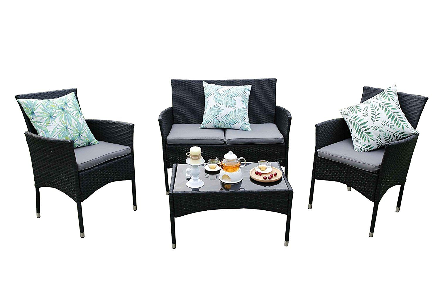 Yakoe Eton Range Outdoor Rattan Garden Furniture Sofa Set