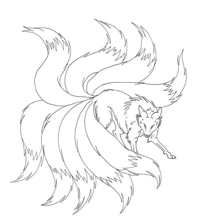 Naruto Nine Tails Coloring Pages Fox Tattoo Design Fox Artwork Fox Art