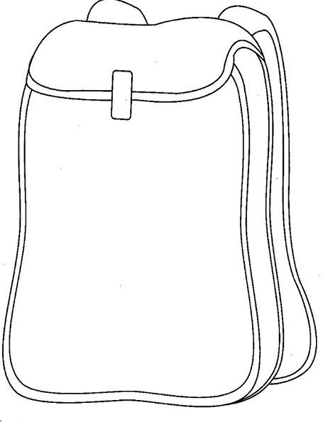 School Backpack Coloring Page craft ideas Pinterest School