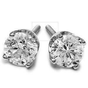 87239394f Kay - Certified Diamonds 1 ct tw Round-cut 18K White Gold Earrings ...