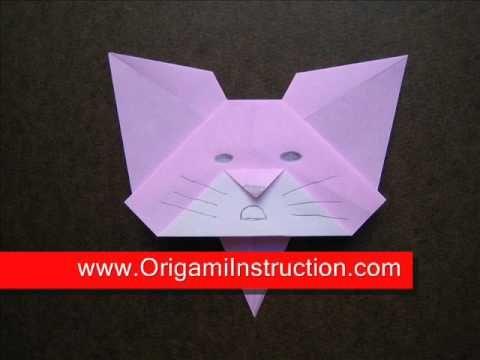 Origami Instructions Origami Cat Bookmark Origami By Loretta O