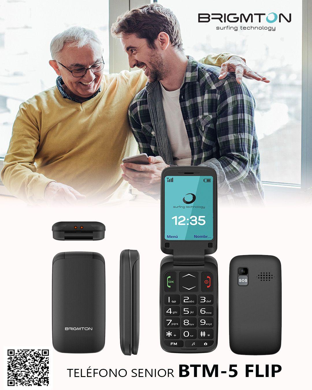 El Nuevo Telefono Movil Btm 5 Flip De Brigmton Es Perfecto Para
