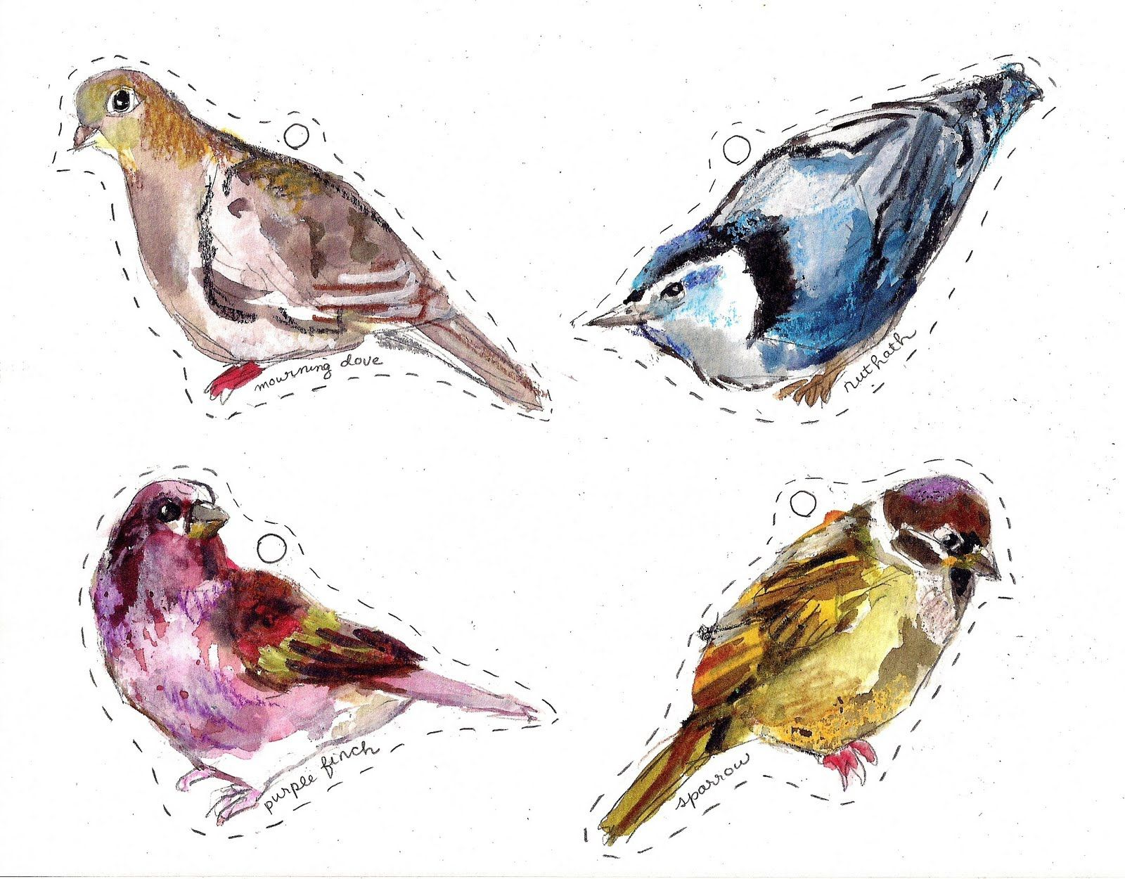 Winter Bird Printables Tins