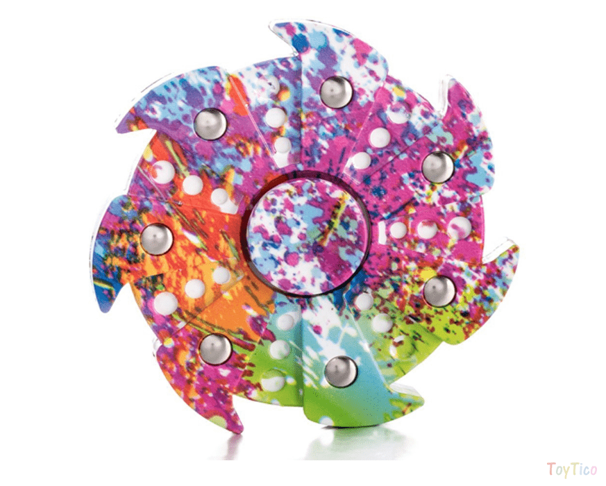 Colorful Camo Fidget Tri Hand Spinning Finger Toy
