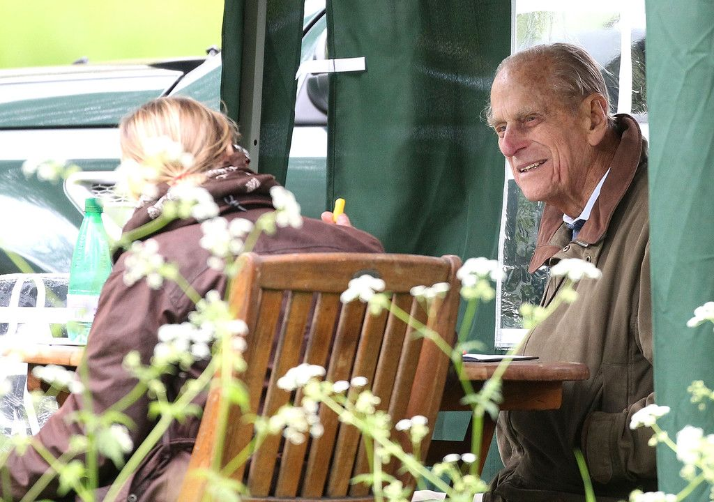 Prince Philip at the Royal Windsor Horse Show, judging the carriage driving 11 May 2013