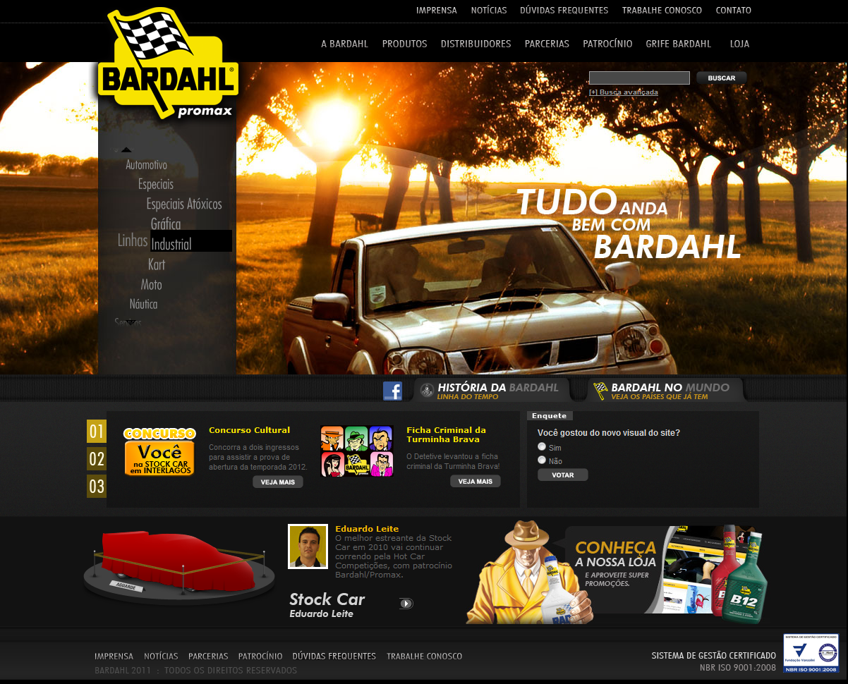 Site da Bardahl (2010)