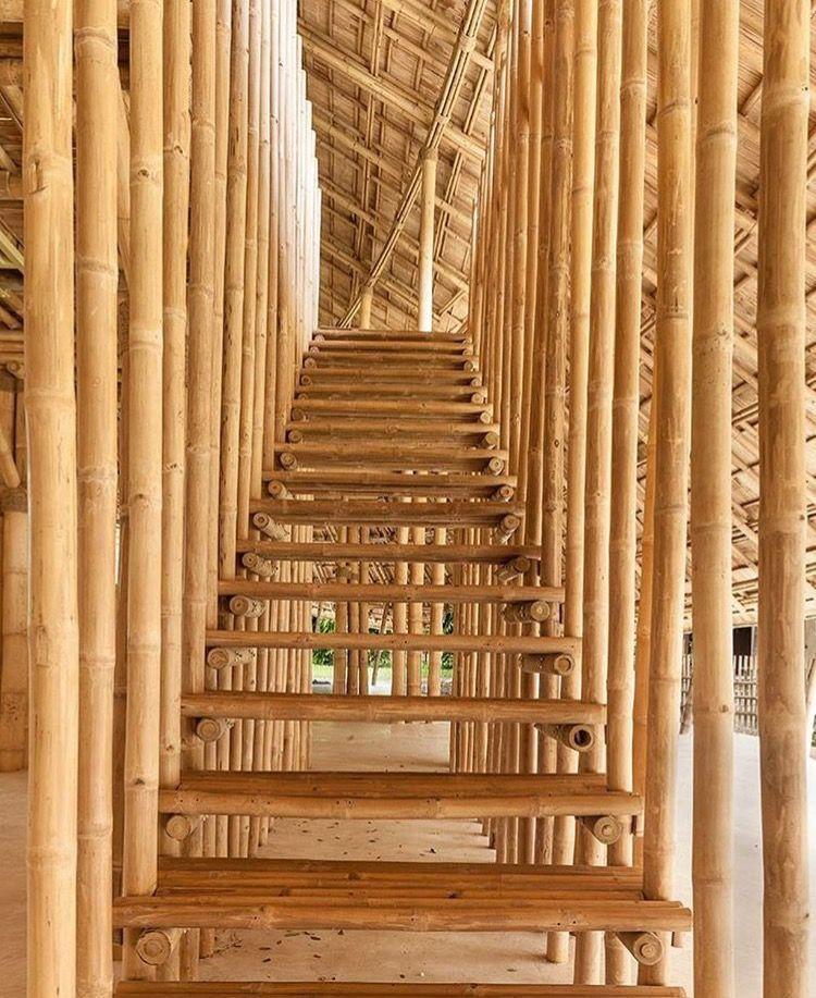 Attirant #bamboo #stairs