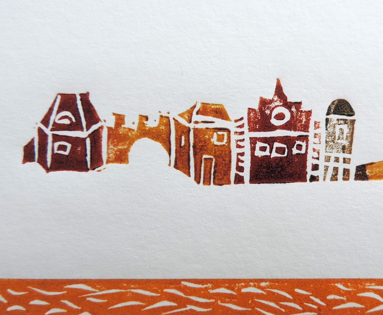 (un)intentional contemporary art in Transylvania: New linocut project: happy houses