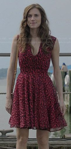 5ff2102135 Marnie's red leopard print dress on Girls | style | Red leopard ...