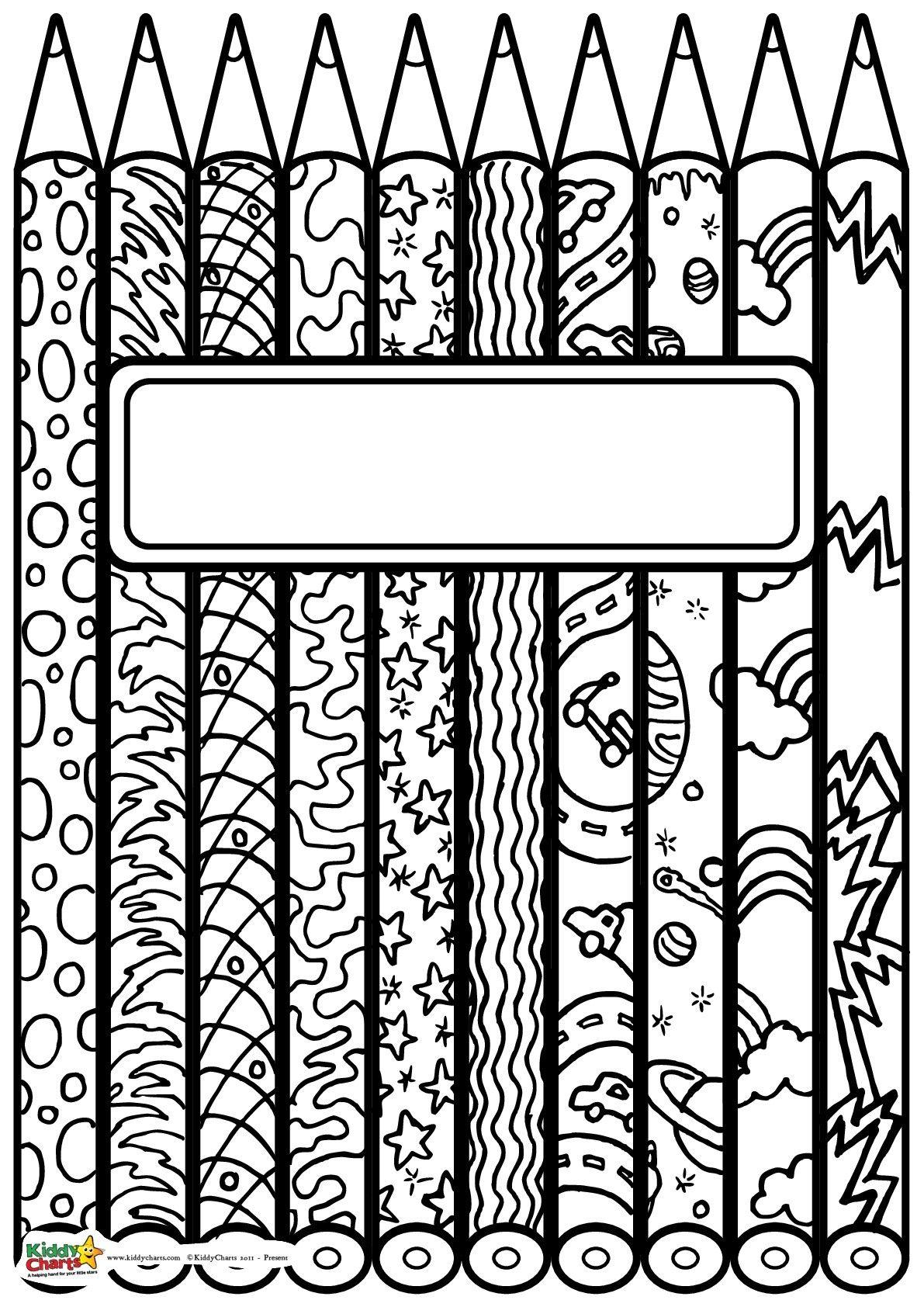 Portada cuaderno para colorear | kunstunterricht | Pinterest ...