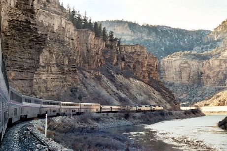 California Zephyr Train Trip Across The US. This Route Is One Of The  Longest And Most Scenic Routes Run By Amtrak, With Views Of Both The Upper  Colorado ...