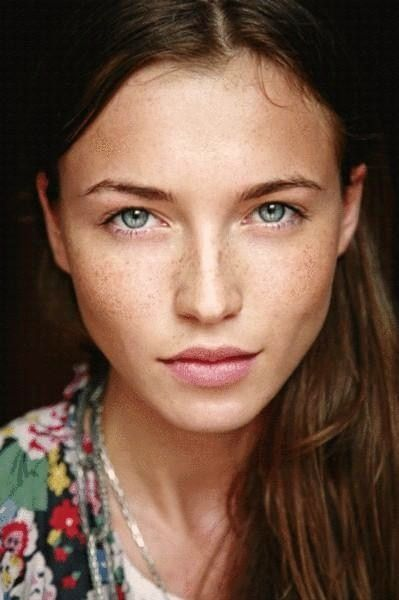 Illusion Of Elegance Woman Face Without Makeup Beautiful Eyes
