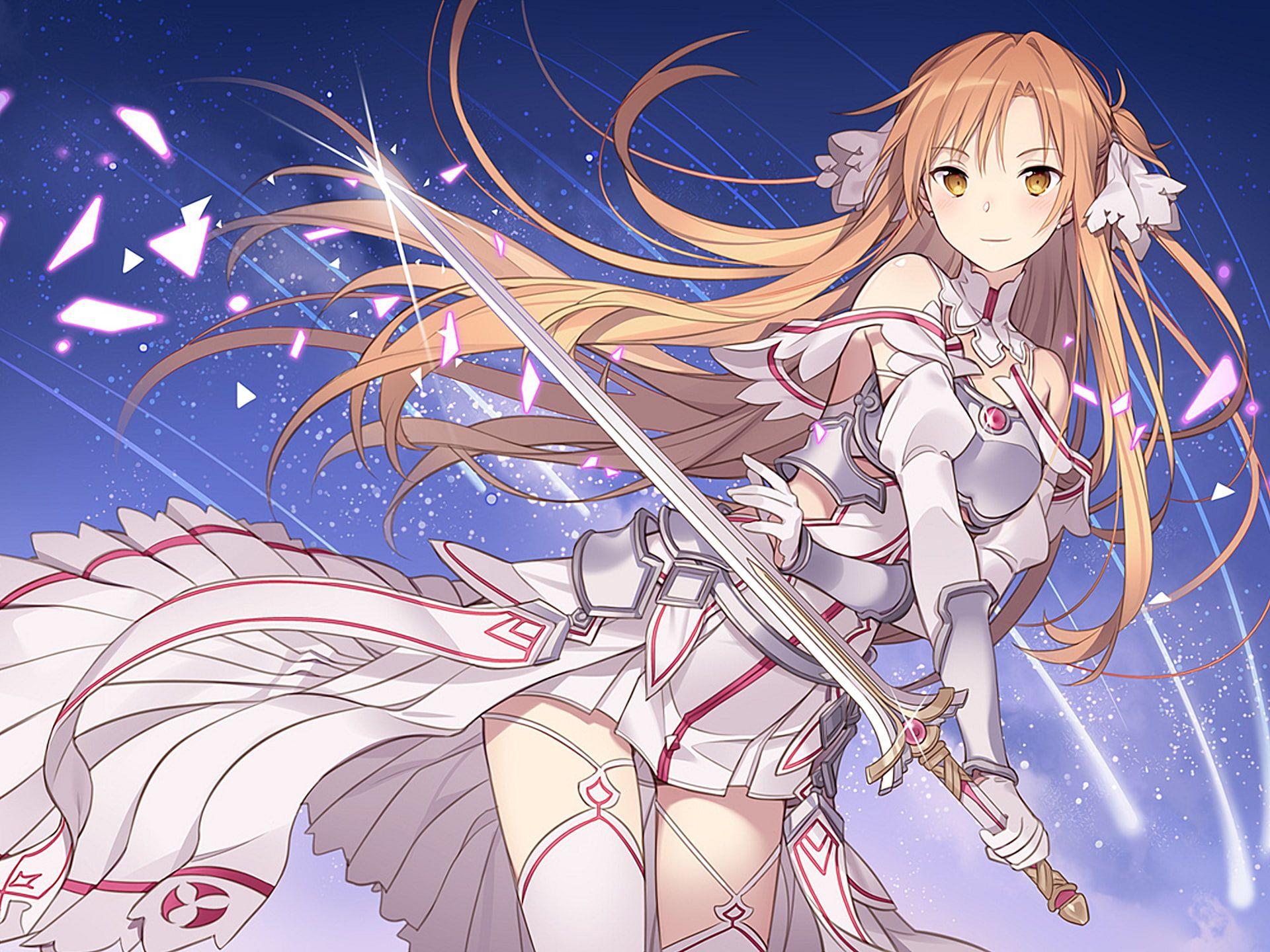 Sword Art Online Sword Art Online Alicization Asuna Yuuki 1080p Wallpaper Hdwallpaper Desktop Sword Art Online Wallpaper Sword Art Sword Art Online Asuna
