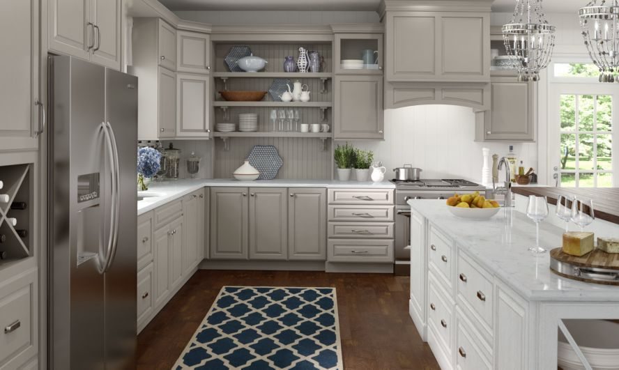 lowes medallion cabinets  Wall and base cabinetry shown