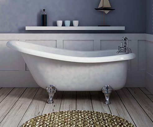 Slipper Freestanding Bath 1500 x 750mm - V40131055 scene square ...