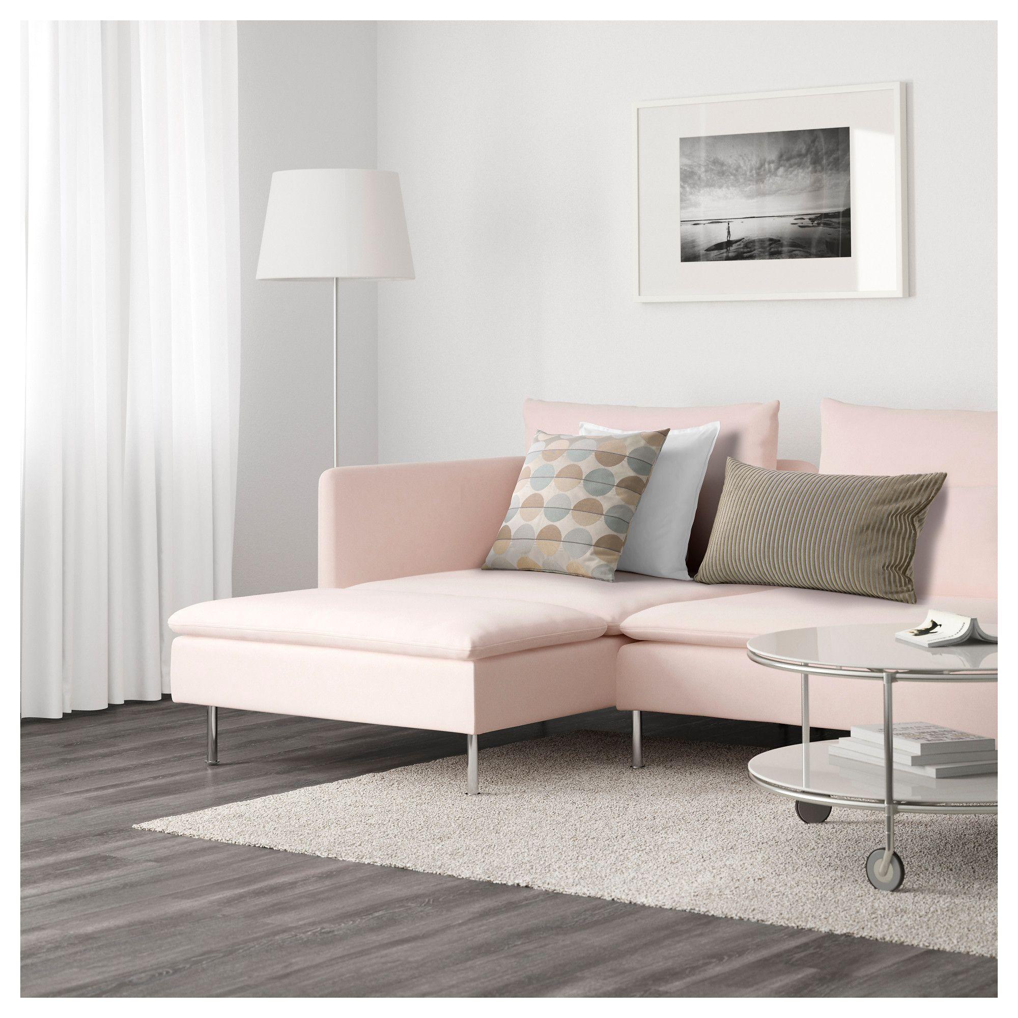 SÖDERHAMN Sectional, 5seat Samsta light pink Best