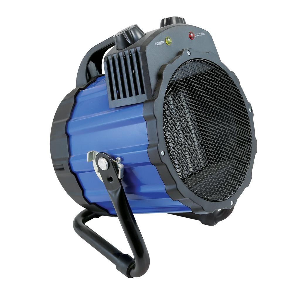 Comfort Zone 1 500 Watt Portable Ceramic Utility Heater With Pivoting Cradle Base In Blue Cz285 Shop Heater Comfort Zone Portable Heater