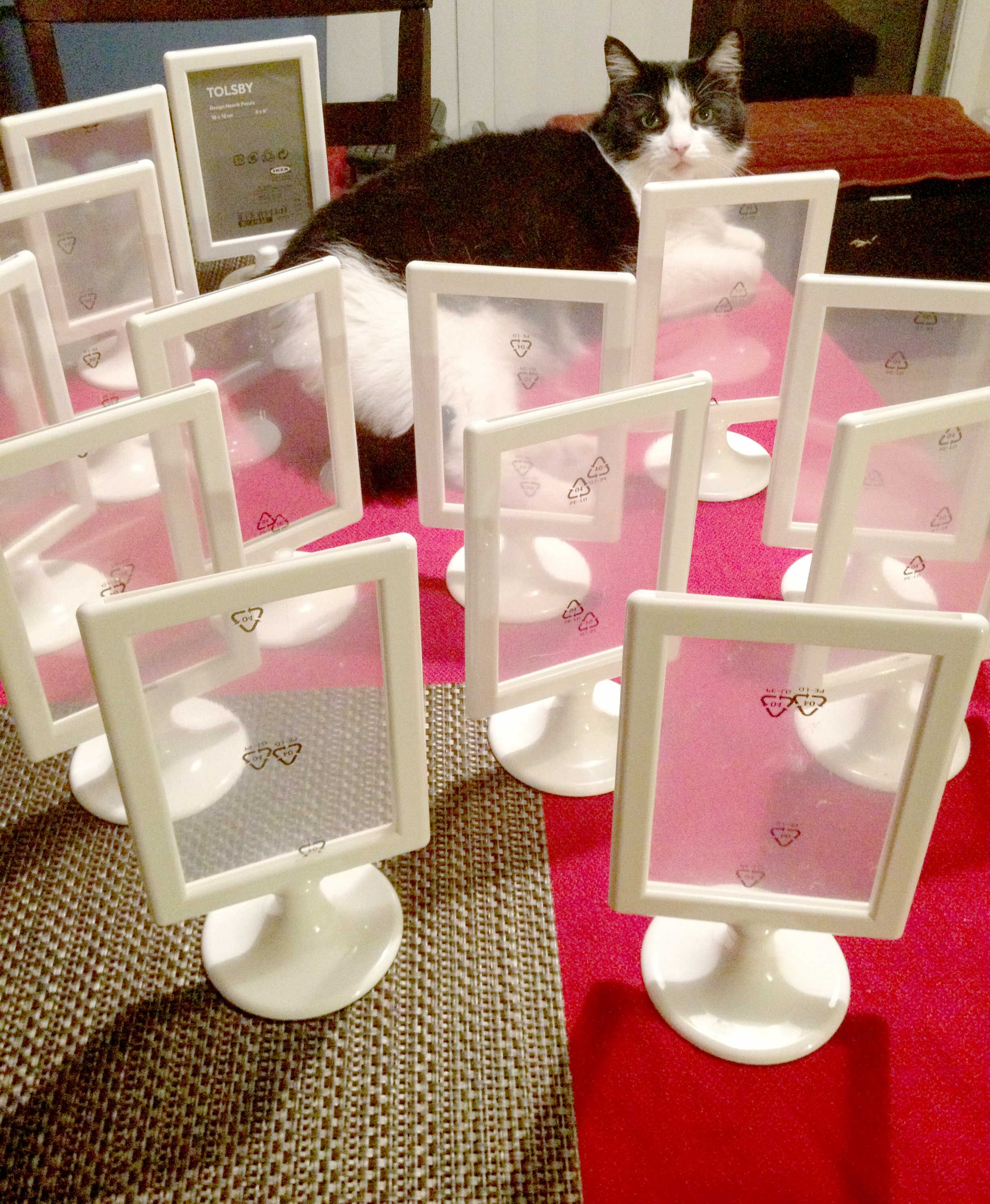 Creating Table Numbers For Our Wedding Reception Double Sided Picture Frames