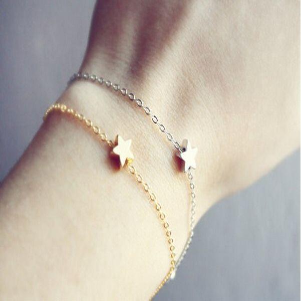 b19ddec0f32a Ts1218 moda sencilla cadena estrella de la pulsera de la joyería en Cadenas  y Pulseras de Dijes de Joyería en AliExpress.com