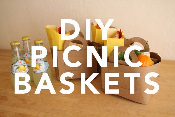 DIY paper picnic baskets~cute gift